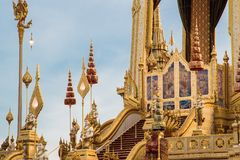 The Royal Cremation Ceremony of His Majesty King Bhumibol Adulyadej to open to public in Sanam Luang Bangkok. Thailand - November 28, 2017 Royalty Free Stock Photography