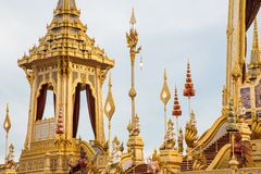 The Royal Cremation Ceremony of His Majesty King Bhumibol Adulyadej to open to public in Sanam Luang Bangkok. Thailand - November 28, 2017 Stock Photos