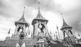 The Royal Cremation Ceremony of His Majesty King Bhumibol Adulyadej to open to public in Sanam Luang Bangkok. Thailand - November 28, 2017 Royalty Free Stock Photos