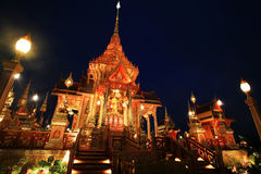 Royal Cremation Ceremony at twilight in Bangkok Stock Photography