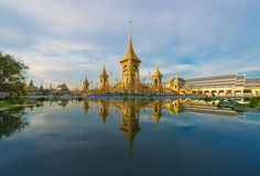 Royal Cremation Exhibition of His Majesty King Bhumibol Adulyadej, Sanam Luang, Bangkok City,Thailand stock photos