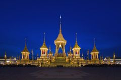 Royal Cremation Exhibition of His Majesty King Bhumibol Adulyadej, Sanam Luang, Bangkok City,Thailand royalty free stock photos