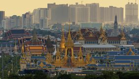 Royal Cremation Exhibition of His Majesty King Bhumibol Adulyadej, Sanam Luang, Bangkok City,Thailand royalty free stock image