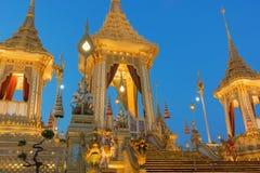 Royal Cremation Exhibition of His Majesty King Bhumibol Adulyadej, Sanam Luang, Bangkok City,Thailand stock photography