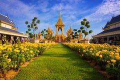 The Royal Crematorium of His Majesty King Bhumibol Adulyadej in Bangkok, Thailand. The Royal Crematorium of His Majesty King Bhumibol Adulyadej stands tall in Stock Image