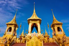 The Royal Crematorium of His Majesty King Bhumibol Adulyadej in Bangkok, Thailand. The Royal Crematorium of His Majesty King Bhumibol Adulyadej stands tall in Stock Photos