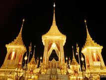 The Royal Crematorium. The Royal Crematorium in Thailand. Pay a final tribute and farewell to His Majesty The Late King Royalty Free Stock Photos