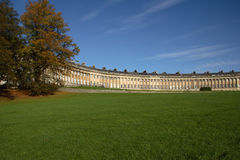 Royal Crescent. Roayal Crescent in Bath, England royalty free stock photos