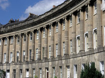 Royal Crescent. The Royal Crescent, Bath England royalty free stock photo