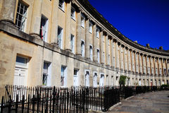 The Royal Crescent in Bath. Somerset, England, UK designed and built between 1767 and 1775 by John Wood the younger Stock Photos