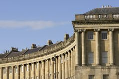 Royal Crescent, Bath Royalty Free Stock Photo