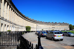 The Royal Crescent in Bath. Somerset, England, UK designed and built between 1767 and 1775 by John Wood the younger Stock Images