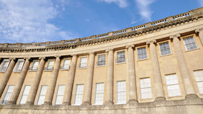 Royal Crescent in Bath England Royalty Free Stock Photos