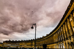 Royal Crescent of Bath, England. Stock Photography