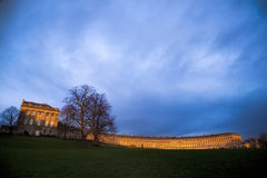 Royal Crescent at sunset Stock Photo