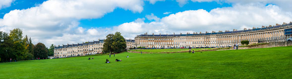 The Royal Crescent in Bath Royalty Free Stock Images