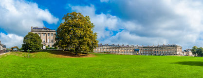 The Royal Crescent in Bath. A panorama photo of the Royal Crescent in downtown Bath in Somerset, England, UK Stock Photography