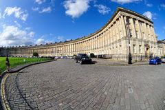 Royal Crescent, Bath, Somerset, England, UK Royalty Free Stock Photo