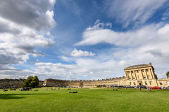Royal Crescent Bath UK. Terraced house lined in crescent shape in Bath, England Stock Photos