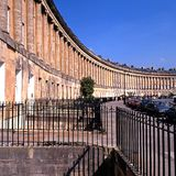 The Royal Crescent, Bath. Stock Images