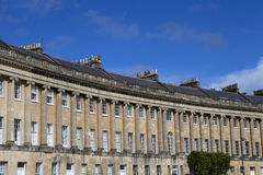 Royal Crescent in Bath. A view of the stunning Royal Crescent in Bath, Somerset Stock Image