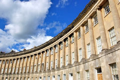 Royal Crescent building in Bath, England. The famous circular Royal Crescent building in Bath, England Royalty Free Stock Photo