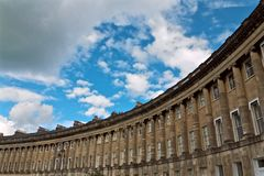 The Royal Crescent in City of Bath England Royalty Free Stock Photos