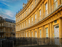 Royal Crescent, Georgian Architecture, Bath, England Royalty Free Stock Images