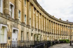 Royal Crescent Homes of Bath, England Stock Photography