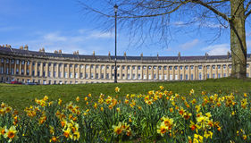 Royal Crescent at Spring Royalty Free Stock Images