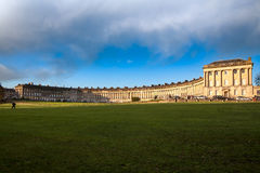 Royal Crescent. The Royal Crescent is a street of 30 terraced houses laid out in a sweeping crescent in the city of Bath, England. Designed by the architect John Royalty Free Stock Image