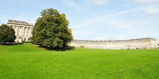 The Royal Crescent and Victoria Park Stock Photography