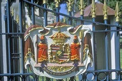 Royal Crest at the Iolani Palace, Honolulu, Hawaii Royalty Free Stock Image
