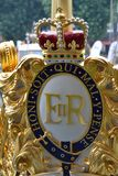 Royal crest on the royal barge Stock Images