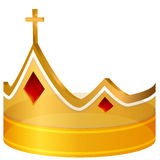 Royal Cross Gold Crown Royalty Free Stock Photo