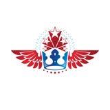 Royal Crown emblem. Heraldic Coat of Arms decorative logo isolat Stock Photos