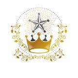 Royal Crown emblem. Heraldic Coat of Arms decorative logo isolat Stock Photography