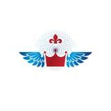 Royal Crown emblem. Heraldic Coat of Arms decorative logo isolat Royalty Free Stock Image