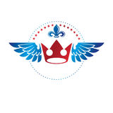 Royal Crown emblem. Heraldic Coat of Arms decorative logo isolat Royalty Free Stock Images