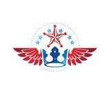 Royal Crown emblem. Heraldic Coat of Arms decorative logo isolat Stock Image