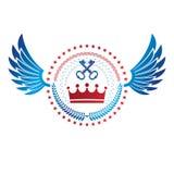 Royal Crown emblem. Heraldic Coat of Arms decorative logo isolat Royalty Free Stock Photo