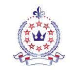 Royal Crown emblem. Heraldic vector design element. Retro style Stock Photo