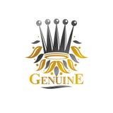 Royal Crown emblem. Heraldic vector design element. Retro style Royalty Free Stock Photography