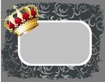 Royal crown  frame Stock Photo