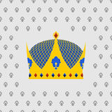 Royal Crown of gold with precious stones. Vector illustration Stock Images