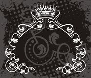Royal Crown Grunge Design Stock Images