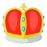 Royal crown icon, cartoon style Royalty Free Stock Images