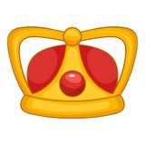 Royal crown icon, cartoon style Royalty Free Stock Photo