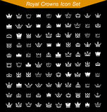 Royal Crown Icon Set 2. 100 icon Royal Crown Icon Set 2 Royalty Free Stock Image