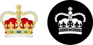 Royal Crown Icon Set Stock Photos